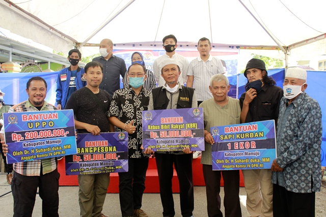 Gelar Reses di Mamuju, SDK Bagikan 15 Ekor Sapi Kurban