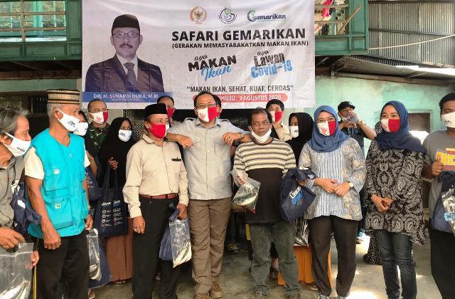 Safari Gemarikan, SDK bersama KKP Bagikan 1.000 Paket Ikan Segar